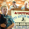 Austin Hamblin shows his Blue Jersey Giant during the Livestock Auction at the Howard County 4-H Fair on Thursday, July 12, 2018.<br /> Kelly Lafferty Gerber | Kokomo Tribune