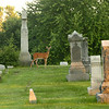 A deer stands among the headstones. Mount Hope Cemetery in Logansport is supposedly haunted with phantom sounds horses and whistling.<br /> Kelly Lafferty Gerber | Kokomo Tribune