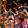 Performers entertain the crowd on the Roman Ladders during the Peru Amateur Circus on Saturday, July 14, 2018.<br /> Kelly Lafferty Gerber | Kokomo Tribune