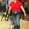 Megan Hawkins shows a goat during the Supreme Showman competition at the Howard County 4-H Fair on Wednesday, July 11, 2018. Hawkins was later named Supreme Showman.<br /> Kelly Lafferty Gerber | Kokomo Tribune