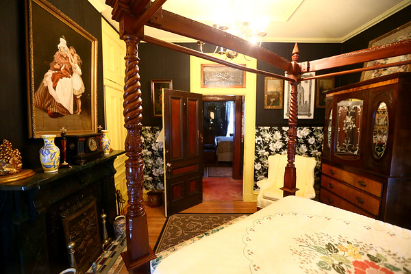An upstairs bedroom. The George Tate house, shown here on July 17, 2018, located at 114 East Jefferson Street and now owned by Dorwin Starr, was recently placed on the National Register of Historic Places. <br /> Kelly Lafferty Gerber | Kokomo Tribune