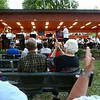 """The audience applauds as the Retired Rum-Runners Traditional Jazz Band, along with the Kokomo Park Band, play """"Sweet Georgia Brown"""" during their season opener at Highland Park on Wednesday, June 6, 2018.<br /> Kelly Lafferty Gerber 