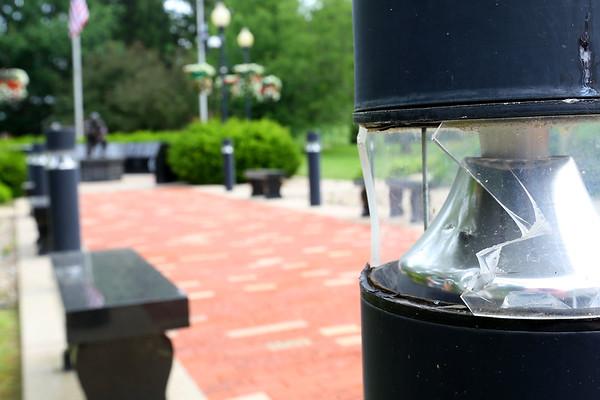 Vandalism at Vet Memorial