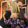 Ariel Nelson accepts a diploma at Northwestern's graduation on June 2 on behalf of her brother, William Stonestreet, who was killed in a car accident in November 2017. <br /> Kelly Lafferty Gerber | Kokomo Tribune