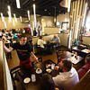 Jared Green, who has been a server at PASTArrific for eight years, talks to customers at PASTArrific on Tuesday, June 12, 2018. The Italian restaurant reopened after a devastating fire over a year ago.<br /> Kelly Lafferty Gerber | Kokomo Tribune
