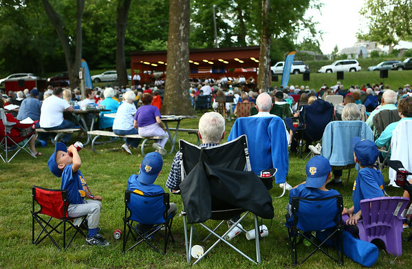 """An audience of all ages came out to Highland Park on Wednesday for the Kokomo Park Band season opener """"Summer Nights.""""<br /> Kelly Lafferty Gerber 