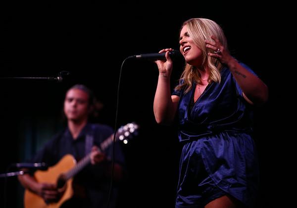 Bree Echelbarger, accompanied by Mitch White performs in Kokomo's Got Talent on Saturday, June 23, 2018.<br /> Kelly Lafferty Gerber   Kokomo Tribune