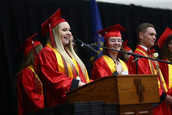 Taylor High School graduation on Friday, June 8, 2018.<br /> Kelly Lafferty Gerber   Kokomo Tribune