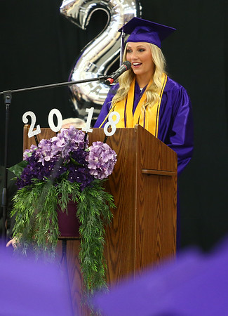 Northwestern High School 2018 graduation on Saturday, June 2, 2018.<br /> Kelly Lafferty Gerber   Kokomo Tribune