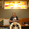 Jayne Wheeler spins yarn at the Sol House during the Maker City Fair at the Haynes Apperson Festival on Friday, June 29, 2018.<br /> Kelly Lafferty Gerber | Kokomo Tribune