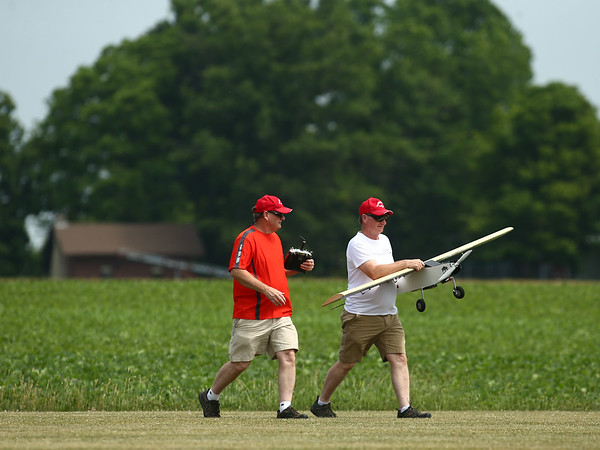 The Converse Flying Eagles R/C Club met at the Converse Airport for the annual egg drop competition on Saturday, June 16, 2018.<br /> Kelly Lafferty Gerber   Kokomo Tribune