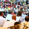 The audience sings and whistles along to one of the songs during Kokomo Park Band's season opener at Highland Park on Wednesday, June 6, 2018.<br /> Kelly Lafferty Gerber | Kokomo Tribune