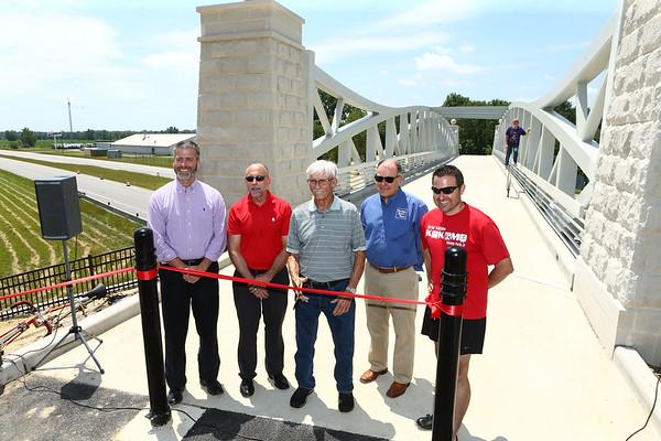 The Nickel Plate trail bridge was officially opened on Friday, June 29, 2018.<br /> Kelly Lafferty Gerber | Kokomo Tribune