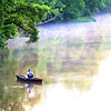 A man fishes the Wildcat Creek just east of 300 West in the early morning hours on June 7, 2018.<br /> Tim Bath | Kokomo Tribune