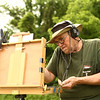 Avon Waters listens to violin music as he paints with pastels in Richvalley, Indiana on June 8.<br /> Kelly Lafferty Gerber | Kokomo Tribune