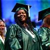 Yardra Gordon grins after turning her tassel marking her a graduate of the Excel Center on Thursday, June 14, 2018.<br /> Kelly Lafferty Gerber | Kokomo Tribune