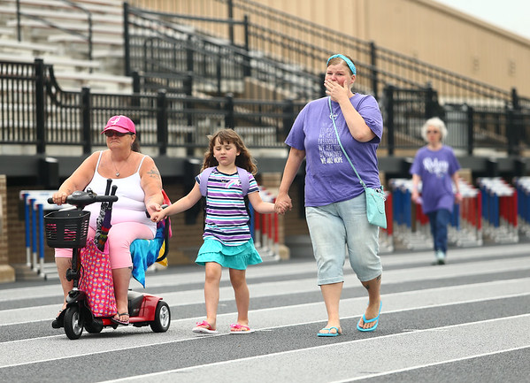 Survivor walk at Relay for Life at Kokomo High School on Saturday, June 23, 2018.<br /> Kelly Lafferty Gerber   Kokomo Tribune