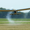 A radio control plane takes off at the Converse Airport during the Converse Flying Eagles R/C Club's annual egg drop competition on Saturday, June 16, 2018.<br /> Kelly Lafferty Gerber | Kokomo Tribune