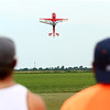 A radio control plane flies over the Converse Aiport during a meeting of the Converse Flying Eagles R/C Club on Saturday, June 16, 2018.<br /> Kelly Lafferty Gerber | Kokomo Tribune