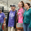 Cancer survivor Libby Payne, left, walks with her granddaughter Lexi Shepard and daughter Janelle Hunley during the first survivor lap at Relay for Life at Kokomo High School on Saturday, June 23, 2018.<br /> Kelly Lafferty Gerber | Kokomo Tribune