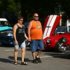 Lori Wooten and Bruce Ehase check out the classic cars during the Haynes Apperson Festival on Thursday, June 28, 2018.<br /> Kelly Lafferty Gerber | Kokomo Tribune