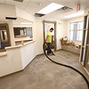 Enrique Lopez, from Rite-Way, works on the floors inside the Kokomo Humane Society as it nears the completion of construction on June 28, 2018.<br /> Kelly Lafferty Gerber | Kokomo Tribune
