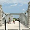 Bikers and walkers cross the Nickel Plate trail bridge after it was officially opened on Friday, June 29, 2018.<br /> Kelly Lafferty Gerber | Kokomo Tribune
