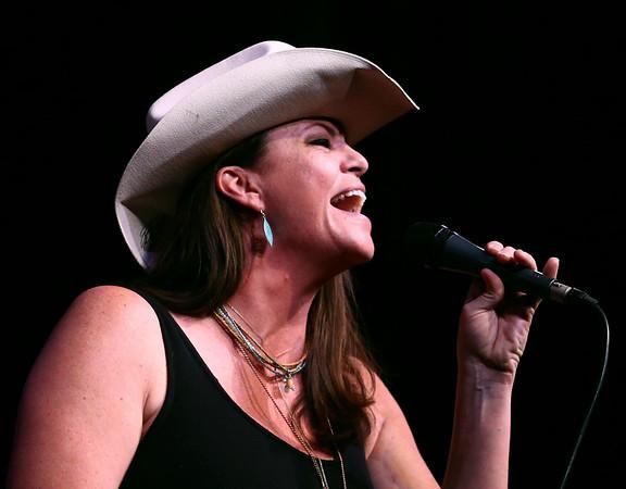 "Sacha Teague sings ""Cowboy Sweetheart"" during Kokomo's Got Talent on Saturday, June 23, 2018. Teague was awarded third place in the contest.<br /> Kelly Lafferty Gerber   Kokomo Tribune"