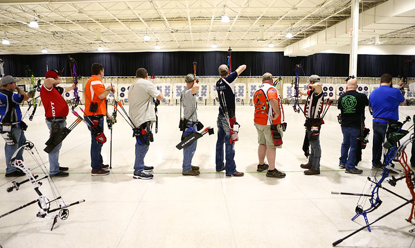 53rd annual Indiana Field Archery Association Indoor Tournament at the Kokomo Event Center on Saturday, March 3, 2018.<br /> Kelly Lafferty Gerber | Kokomo Tribune
