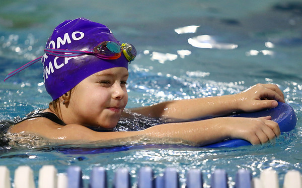 Annie Hare swims laps for the Y-A-Thon on Tuesday, March 6. The Y-A-Thon is a week-long event to raise money for the Kokomo YMCA's annual campaign.<br /> Kelly Lafferty Gerber | Kokomo Tribune