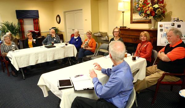 The group discusses politics on March 6, 2018.<br /> Kelly Lafferty Gerber | Kokomo Tribune