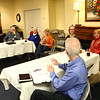 The group discusses politics on March 6, 2018.<br /> Kelly Lafferty Gerber | Kokomo Tribune
