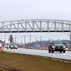 The pedestrian bridge over 931, shown here on March 29, 2018, will connect walkers, joggers and cyclists from the Nickel Plate trail to downtown Kokomo.<br /> Kelly Lafferty Gerber | Kokomo Tribune