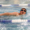 Quinten Yazdani comes up for air as he swims laps for the Y-A-Thon on Tuesday, March 6. The Y-A-Thon is a week-long event is raising money for the Kokomo YMCA's annual campaign.<br /> Kelly Lafferty Gerber | Kokomo Tribune