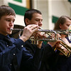Western's Drew Jarrell, left, plays the trumpet as the festival band performs at the Howard County Music Festival at Eastern High School on Wednesday, March 14, 2018.<br /> Kelly Lafferty Gerber | Kokomo Tribune