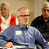 Clee Oliver talks during the pizza and politics discussion on March 6, 2018.<br /> Kelly Lafferty Gerber | Kokomo Tribune