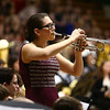 Western's Ariel Marley plays a solo on the trumpet alongside Eastern, Western, Northwestern and Taylor High Schools' bands as they perform together during the Howard County Music Festival at Eastern High School on Wednesday, March 14, 2018.<br /> Kelly Lafferty Gerber | Kokomo Tribune