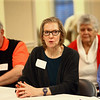 Peg Harmon talks during the pizza and politics discussion on March 6, 2018.<br /> Kelly Lafferty Gerber | Kokomo Tribune