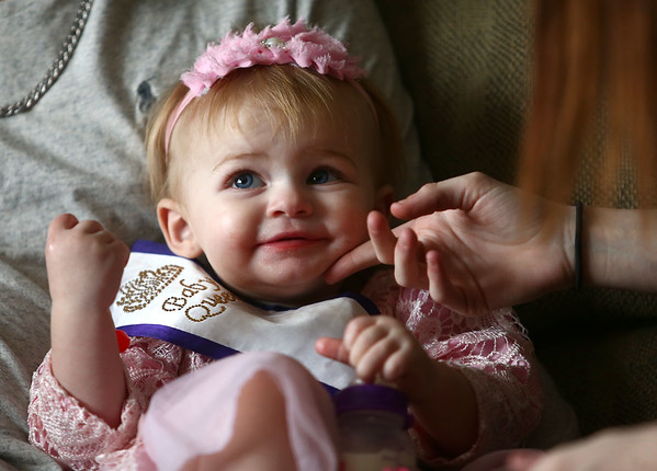 Aria Bass, who's one-and-a-half-year-old has been competing in pageants since she was born. <br /> Kelly Lafferty Gerber | Kokomo Tribune