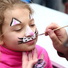 Trinity Calvert, 8, gets her face painted like a bunny during Fuel Church's Easter Festival on Saturday, March 31, 2018.<br /> Kelly Lafferty Gerber | Kokomo Tribune