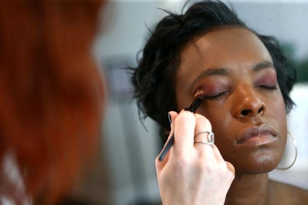 Heartland models get their makeup and hair done at Posh Salon on Friday, March 16, 2018.<br /> Kelly Lafferty Gerber | Kokomo Tribune