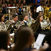 French horn players from Eastern, Western, Northwestern and Taylor High Schools perform together during the Howard County Music Festival at Eastern High School on Wednesday, March 14, 2018.<br /> Kelly Lafferty Gerber | Kokomo Tribune