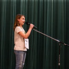 Norah Rayl from Eastern Elementary spells a word during the North Central Indiana Regional Spelling Bee at IUK on Thursday, March 22, 2018. Rayl came in third place.<br /> Kelly Lafferty Gerber | Kokomo Tribune