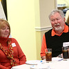 Ken Ferries, right, and Linda Ferries during the pizza and politics discussion on March 6, 2018.<br /> Kelly Lafferty Gerber | Kokomo Tribune
