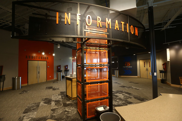 The lobby and information area at Northside Church on March 29, 2018.<br /> Kelly Lafferty Gerber | Kokomo Tribune