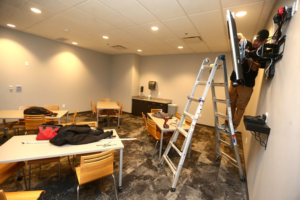 Construction continues in parts of Northside Church, like the Fireside Room, on March 29, 2018.<br /> Kelly Lafferty Gerber | Kokomo Tribune