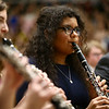 Western's Joseline Hernandez plays the clarinet with the festival band as they perform together during the Howard County Music Festival at Eastern High School on Wednesday, March 14, 2018.<br /> Kelly Lafferty Gerber | Kokomo Tribune