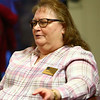 Sue Althouse talks during the pizza and politics discussion on March 6, 2018.<br /> Kelly Lafferty Gerber | Kokomo Tribune