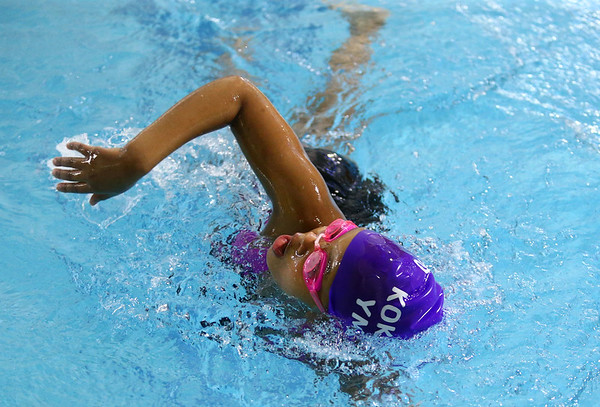 Shanna Fowler swims the freestyle as she does laps up and down the YMCA's pool during the Y-A-Thon on Tuesday, March 6. The Y-A-Thon is a week-long event is raising money for the Kokomo YMCA's annual campaign.<br /> Kelly Lafferty Gerber | Kokomo Tribune