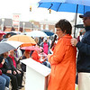 Jackie Walorski addresses the crowd on a rainy morning as Miami County honors its women of World War I during a ceremony unveiling a memorial marker in front of the Miami County Courthouse on Saturday, May 12, 2018.<br /> Kelly Lafferty Gerber | Kokomo Tribune